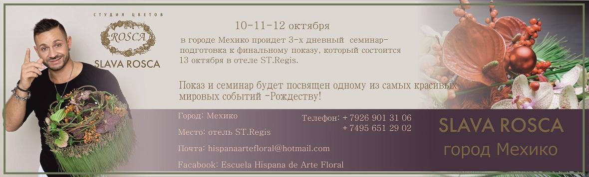 Показ и семинар Славы Роска Мехико 10 - 12 октября