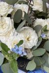 Букет с голубым оксипеталумом - Незабудка