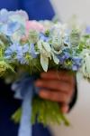 Букет с розами и гортензией - Чистый воздух