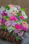 с розами и хризантемами - Нежное признание