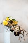 Композиция цветов с монстерой и антуриумом - Черная жемчужина