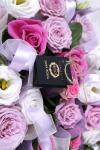 из нескольких сортов роз - Шелковое сердце