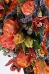 Букет с тюльпанами и орхидеей - Сердце Арлекина