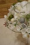 Композиция из восковых элементов на декоративной подставке - Одуванчик воска