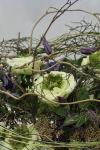 Букет с клематисом и розами - Ветер перемен