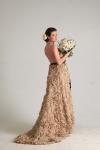 Букет невесты с розами и гортензией - Кремовый день