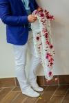 Букет невесты с васильками - Бумажный водопад