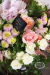 Букет с розами и гортензией - Завтрак у Тиффани