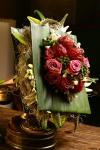 Букет с розой и лилией - В стиле ретро