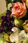Композиция цветов из тюльпанов и орхидей - Эйфория