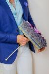 Букет невесты с фиалкой и васильками - Лавандовый микс
