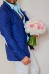 Букет невесты с пионами и розами - Кружевное облако