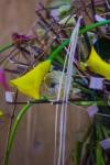 Букет с каллами и гвоздиками - Кассандра
