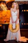 Букет невесты с жасмином и орхидеями - Оранжевое настроение