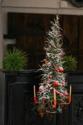 Подсвечник декоративный  - Снежная хвоя