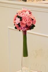 Букет невесты с орхидеями и розами - Леденец