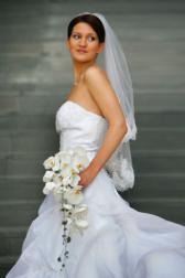 Букет невесты Свадебный каскадный букет - Легкое дыхание