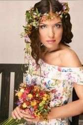 Букет невесты Летний свадебный букет - Рай на островах