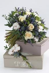 Букет невесты  - Зимняя лаванда