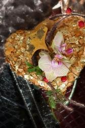 Композиция цветов  - Сердце Гинго