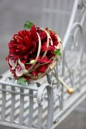 Букет невесты  - Гламелия Красная лилия