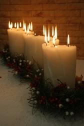 Cвеча декоративная - Волна света