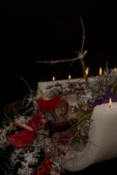 Cвеча новогодняя декоративная - Подкова