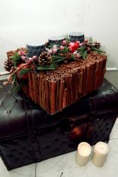 Подсвечник декоративные с корицей  - Аромат рождества