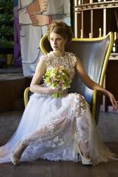 Букет невесты с орхидеями и лютиками - Фисташковый мусс