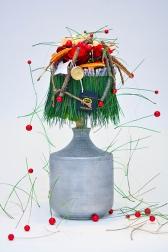 Новогодняя композиция - Морозная роза