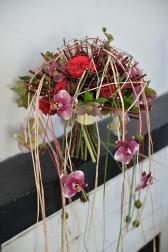 Букет с розами Пинк Пиано - Летний ветер