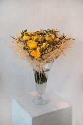 Букет с фрезией и розами - Вдохновение