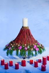 Новогодняя композиция - Рождественский вулкан
