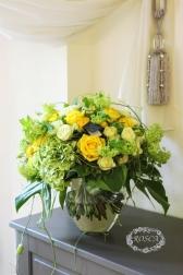 Букет из желтых и белых роз - Букет Классический шик
