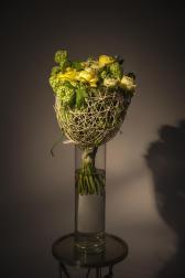 Букет с розами Грин Ай - Бокал солнечного вина