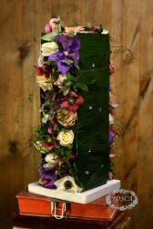 Букет из орхидей, анемон, роз - Цветочная феерия