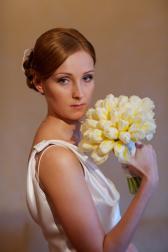Букет невесты Свадебный букет на стеблях - Серебряный век