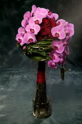 Букет с орхидеями и розами - Азиатский шарм