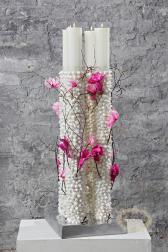 Новогодняя композиция - Ледяной цветок