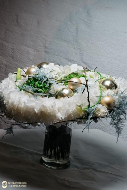 Букет новогодний - Снежный ком