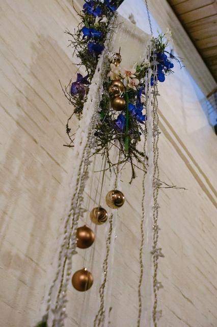 Декоративная подвесная свеча - Синяя сказка