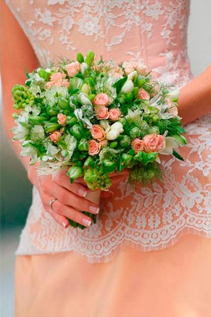 Букет невесты Классический букет - Нежный крем