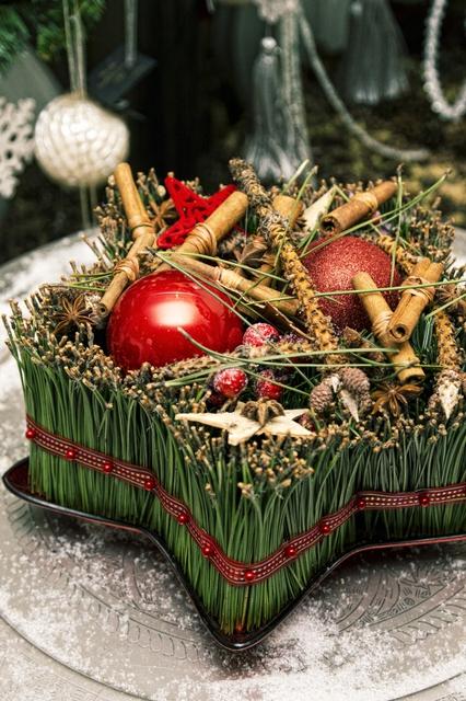 Настольная новогодняя композиция - Новогодняя звезда