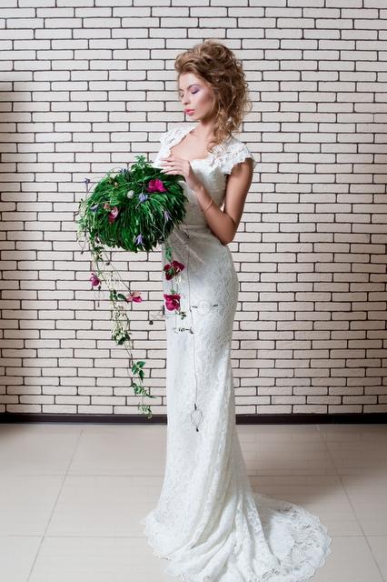 Букет невесты  - Цветочный дождь