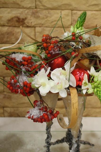 Новогодние композиции для украшения стола - Рождество