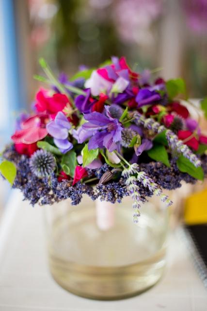 Букет невесты  - Аромат лаванды
