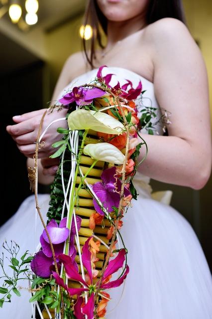 Букет невесты  - Каскад