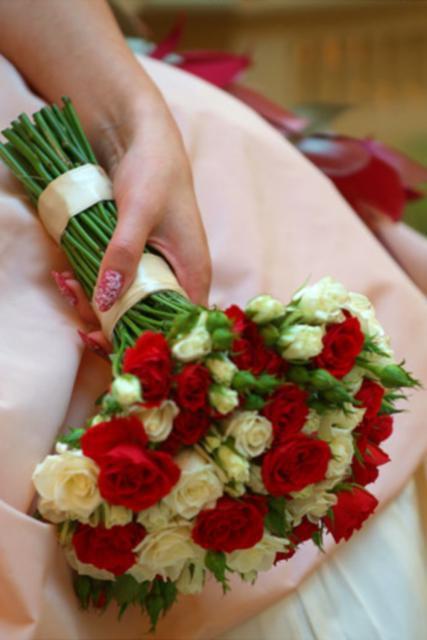 Букет невесты Свадебный букет на стеблях - Пиковая Дама