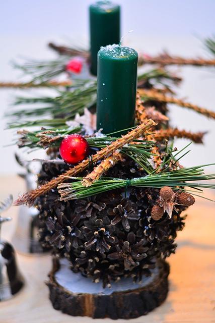Новогодняя свеча  - Шишка