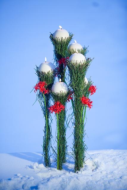 Подсвечник - Рождественский факел